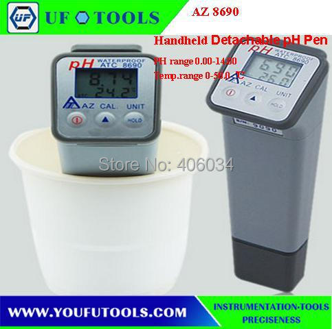 AZ 8690 pen Pen Type Digital ph meter ph tester AZ-8690 AZ8690 water ph meter test  цены