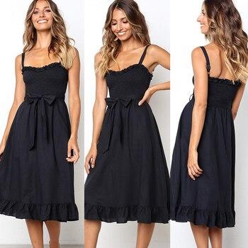 цена на Sexy Strapless Backless Cotton Summer Dress Women Elegant 2019 Floral Print Wrap Midi Party Dresses Vestidos