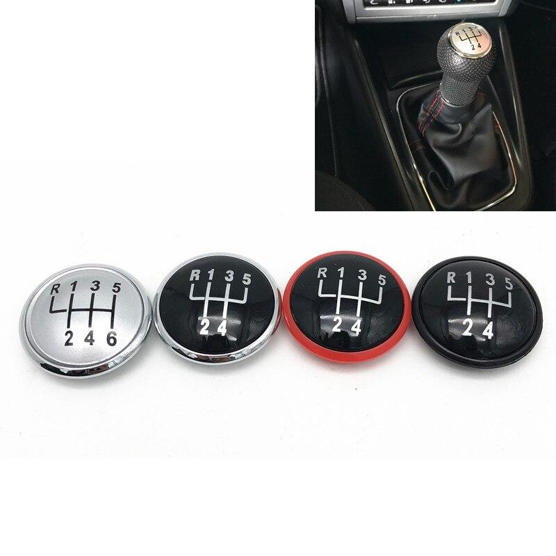 Scheme 3 Gear Lever Sticker Diameter 30/mm 5-Speed Gear Knob Badge Silicone Sticker