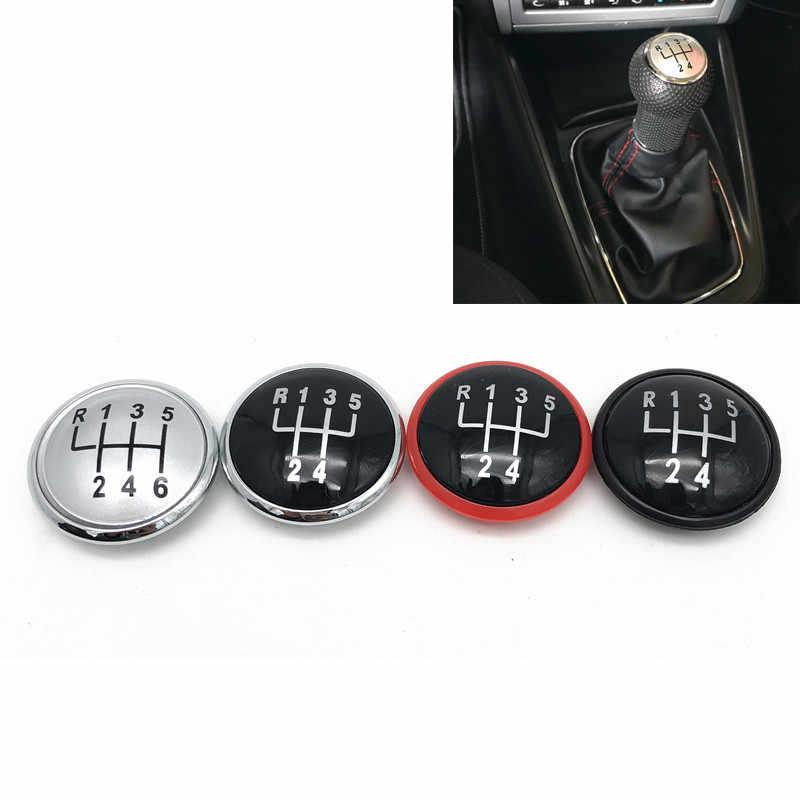 5/6 Speed Pookknop Cap Emblem Badge Cover Voor Vw Volkswagen Golf Jetta MK3 MK4 Gti MK4 Bora Lupo polo Seat Ibiza Caddy