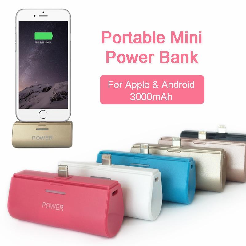 Цена за Милый маленький карман Зарядное устройство чехол для iPhone 5 SE 6 6 S 6 Plus 6splus 7 7 Plus Android Samsung Wireless Power Bank для ежедневной открытый