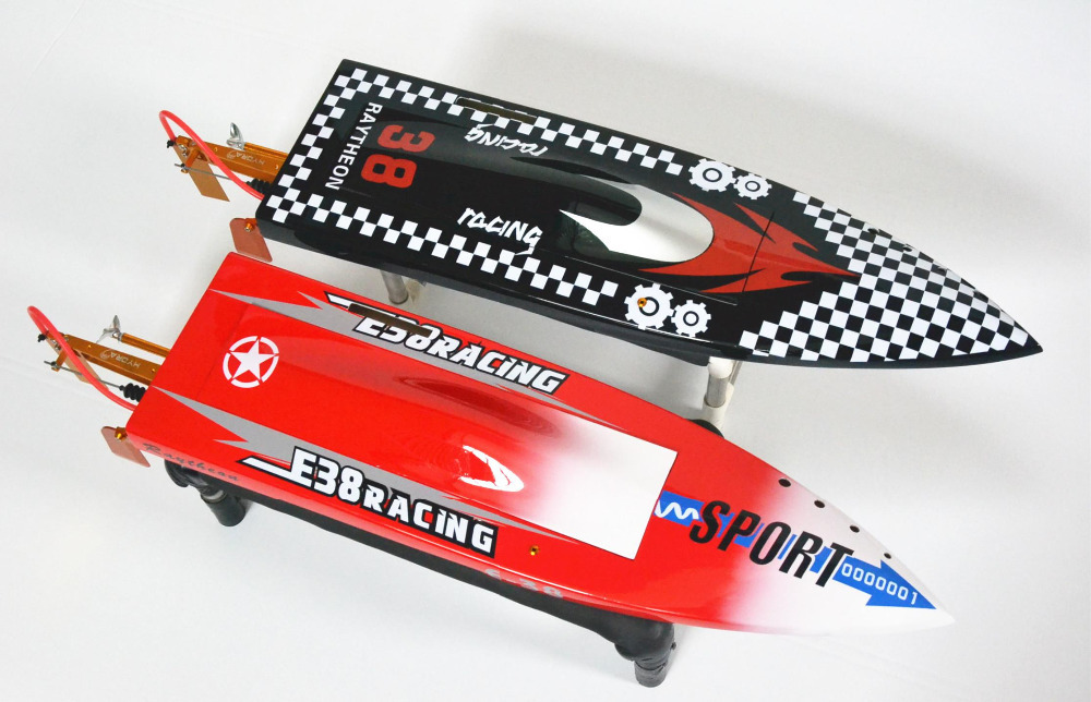 DT Mono 1-1 E38 Thor Fiberglass Electric Brushless RC Boat w/ 2874 3350KV Water Cooling motor, 90A Hobbywing ESC, CNC Metal Prop h625 pnp spike fiber glass electric racing speed boat deep vee rc boat w 3350kv brushless motor 90a esc servo green
