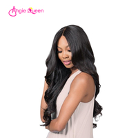 ANGIE QUEEN Peruvian hair body wave full lace wigs human hair lace front wigs virgin hair wig 120/130/150% remy hair lace wigs