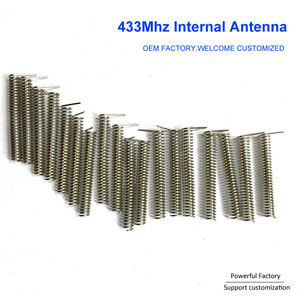 Image 4 - Bronze phosphoreux personnalisé/nickelé 2dbi ressort de carte PCB interne 433Mhz antenne de bobine 100 pièces/lot