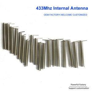 Image 4 - Niestandardowy brąz fosforowy/niklowany 2dbi wewnętrzna sprężyna PCB 433Mhz antena cewki 100 sztuk/partia
