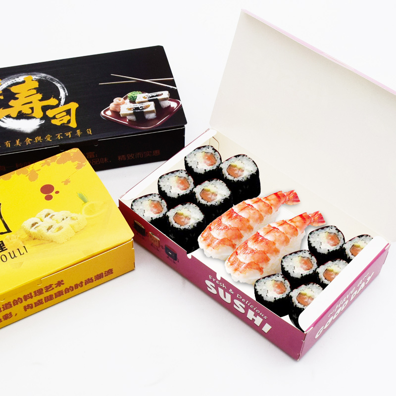 12 Pcs Disposable Sushi Box Rice Ball Paper Packing Box For Fast Food Shop Restaurant Sushi Box Packaging Thicken Supplier in Gift Bags Wrapping Supplies from Home Garden