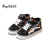 DapChild Kids Sneakers Graffiti Children Shoes Boys Sneakers Fashion Colorful Printing Girls Casual Shoes Lace up Baby Footwear