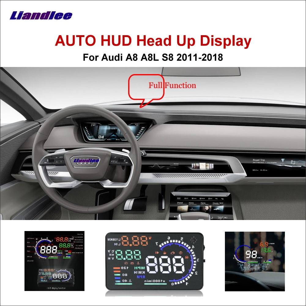 Car HUD Head Up Display For Audi A8 S8 D3 D4 V10 A8L 2011-2020 Driving Screen OBD Speedometer Projector Windshield Accesories