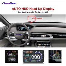 Liandlee Full Function Car HUD Head Up Display For Audi A8 A8L S8 2011 Safe Driving Screen OBD Speedometer Projector Windshield цена и фото