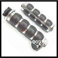 1 Chrome Rubber Handlebar Hand Grips For Kawasaki Vulcan 1500 Classic Nomad Drifter 800 900 1600 2000 VN 1700 Vaquero Voyager