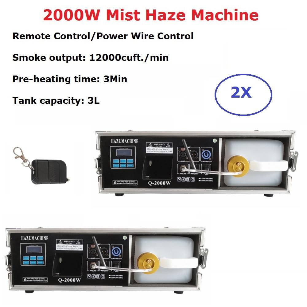 2 XLot 2000 W máquina de niebla Haze 3 L máquina de niebla profesional Hazer escenario DJ muestra equipos para escenario de boda dj láser Luz Club