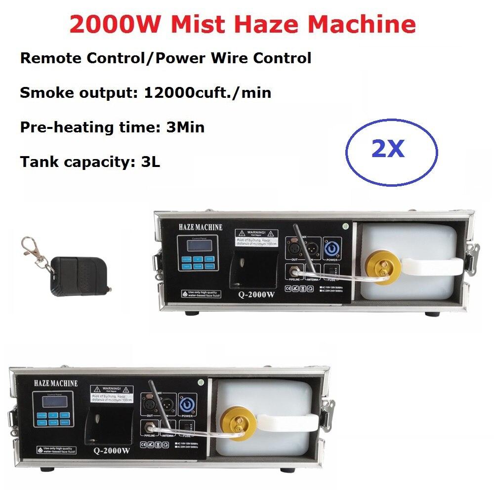 5xlot 2000 W Máquina de Neblina Neblina 3 2 L Profissional Hazer Máquina de Fumaça Fase DJ Mostra Equipamentos Para A Fase de Casamento dj Luz Laser Clube