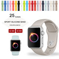 Alta calidad 25 colores 42mm 38mm correa de hebilla de pulsera de silicona para apple watch band sports