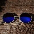 2017 moda new mulheres óculos de sol femininos do vintage rodada óculos de sol 6 cores desgaste da praia do verão óculos oculos feminino