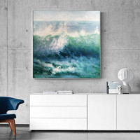 Modern abstract painting on canvas art acrylic painting original seascape Wall Art pictures for living room home decors caudros