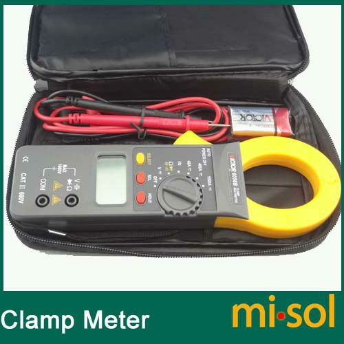ФОТО 10pcs/lot Digital Clamp Meter DC/AC 1000A AC750V DC1000V Power 9V, clamp multimeter
