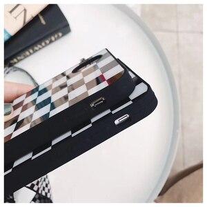 Image 3 - שחור לבן משובץ משובץ טלפון Crossbody מקרה כיסוי עם רצועה ארוכה שרשרת עבור iPhone 11 פרו XS MAX XR X 6S 7 8 בתוספת מקרה קוב