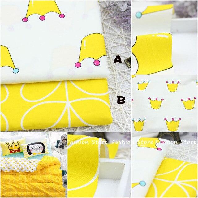 4550 см Ярко-Желтый Подушки Швейные Принадлежности 95% Хлопчатобумажная Ткань Жир Quaters Тильда ткань Лоскутное скрапбукинга Лоскутная Ткань