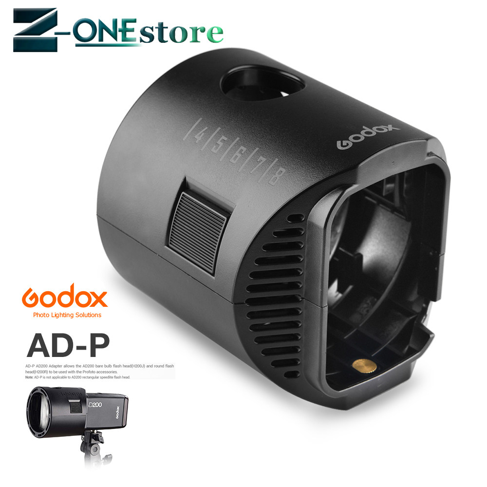 Godox AD200 TTL Flash H200R Ring Flash Head Accessories AK-R1 Barn  Door,Snoot,Color Filter,Reflector,Honeycomb,Diffuser Ball Kit
