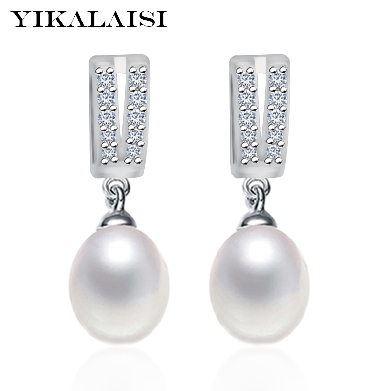 YIKALAISI Brand 925 Sterling Silver Jewelry New Fashion  For Women Stud Earrings Natural Freshwater Pearl Jewelry  Gifts