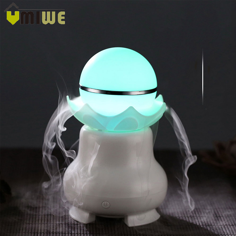 все цены на USB Pearl Humidifier Mini Air Purifier Aroma Diffuser Essential Oil Diffuser Air Humidifier with 7 LED Color Changing Lights онлайн