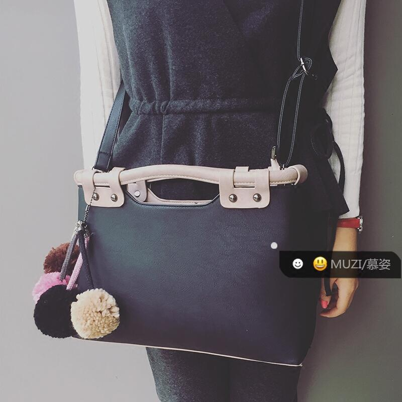 2017 women leather Tote Bag Korean Fashion Women Shoulder Messenger Bags handbags famous brands