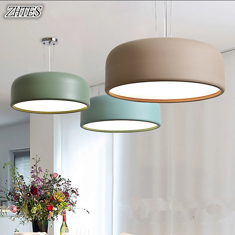 Nordic Chandeliers Simple And Modern Bedroom Dining Room Study Fashion Hanging Ceiling Dual-use Lamps