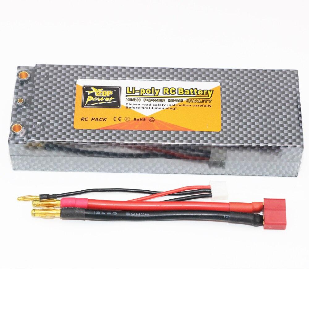 ZOP V Power s 4200 7,4 mAh 35C 2 s RC LiPo batería funda dura para 1/10 RC coche Traxxas Tamiya
