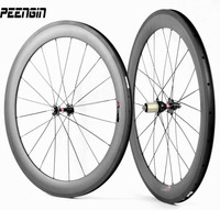 Quick delivery big sales!23mm wide carbon wheelset 60mm clincher bicycle road racing wheels cycle tubeless rim for ruote cycling