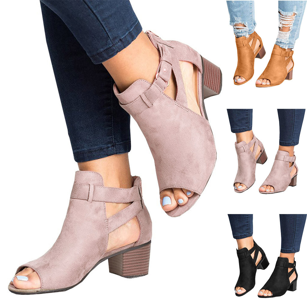 Basic Fashion Spring Summer Ladies Sandals Fashion Fish Mouth Hollow Out Roma Shoes 2019 skinners sock shoes