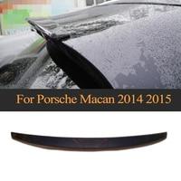 Carbon Fiber Car Rear Roof Lip Spoiler Wing for Porsche Macan 2014 2015 Car Cover