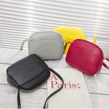 купить AUTUMN SOUND Color Messenger Bag For Girls Flap Pu Leather Shoulder Bags 2019 Hot Crossbody Bags For Women Casual Mini Candy дешево