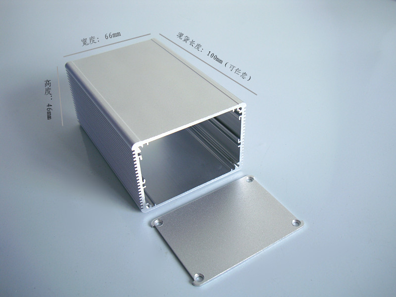 2PCS Aluminum Enclosure 66*46*100mm DIY for PCB POWER shell Electric project box electronics enclosure NEW aluminum enclosure for pcb power shell electric project box diy 80 35 100 3 15 x1 38 3 93 wxhxl mm new wholesale