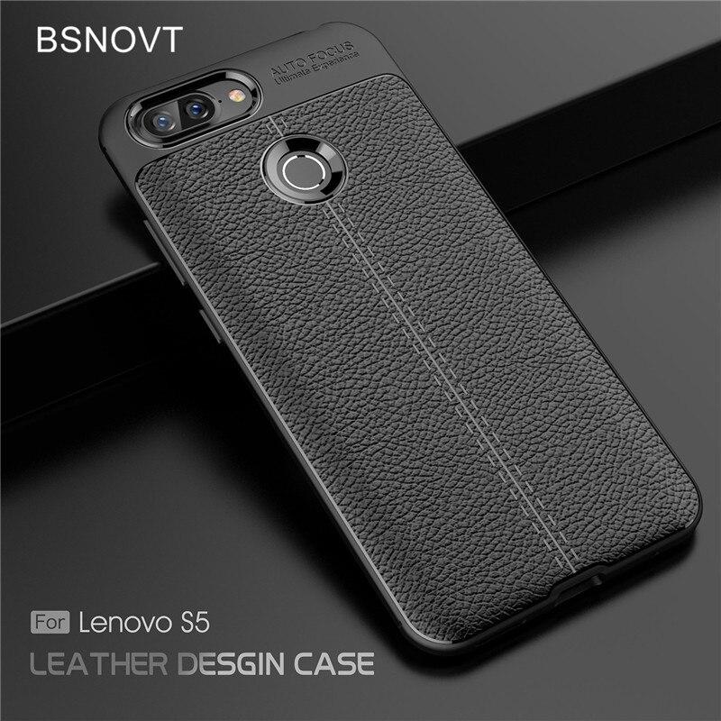 "Lenovo S5 Case For Lenovo S5 Cover Soft Silicone TPU Leather Shockproof Anti-knock Phone Case For Lenovo S5 5.7"" Fundas BSNOVT"