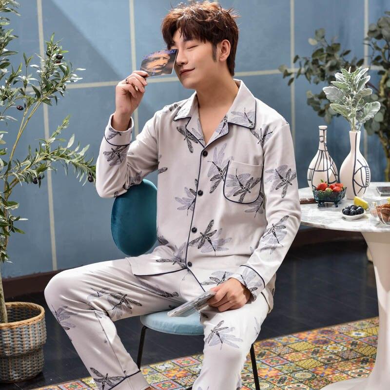 Men's Sleep Couple Pajamas Set Unises Adult Home Clothes Sleepwear Cotton Pyjamas For Men  Women Pajamas For Men  Leisure Suits