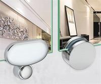 Espelho do banheiro espelho de vidro articulador fixo acessórios placa publicidade braçadeira de vidro clipe fixo espelho fixo montagem|Braçadeiras de vidro| |  -
