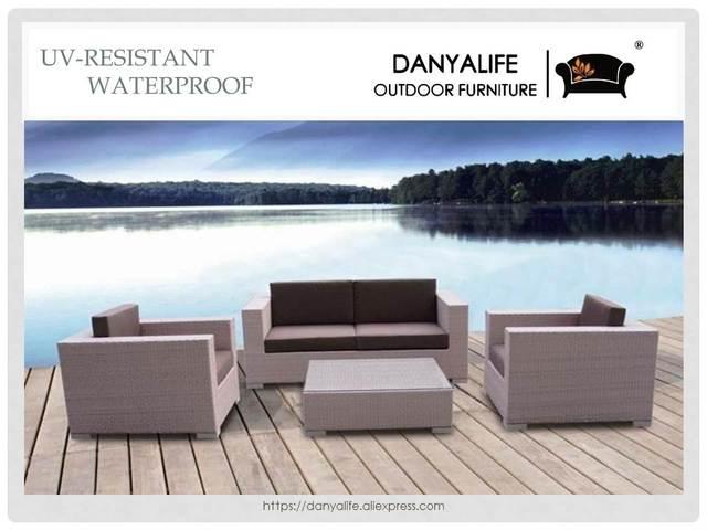Hochwertig DYSF D4418 Danyalife Factory OEM Villa Garden Poly Rattan Sofa Set