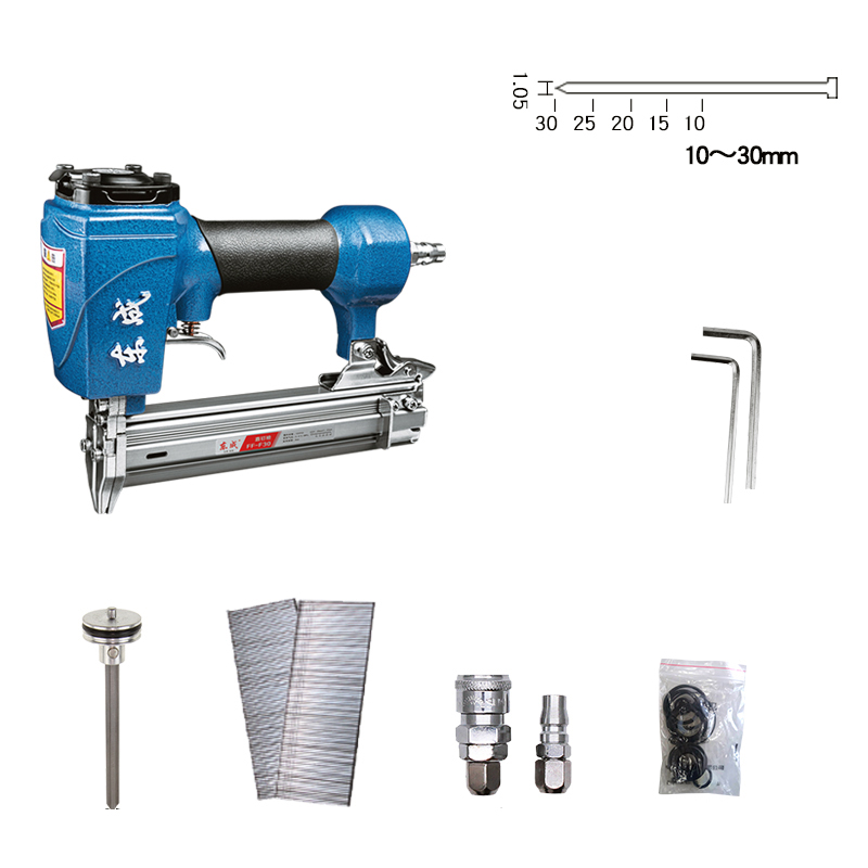 FF-F30 Pneumatic nail gun Air Brad Nailer Woodworking Air stapler 4-8Bar dongcheng ff t50dc nail gun air brad nailer 25 50mm straight nail 1 4mm diameter stapler 4 8 bar gun 8mm pipe