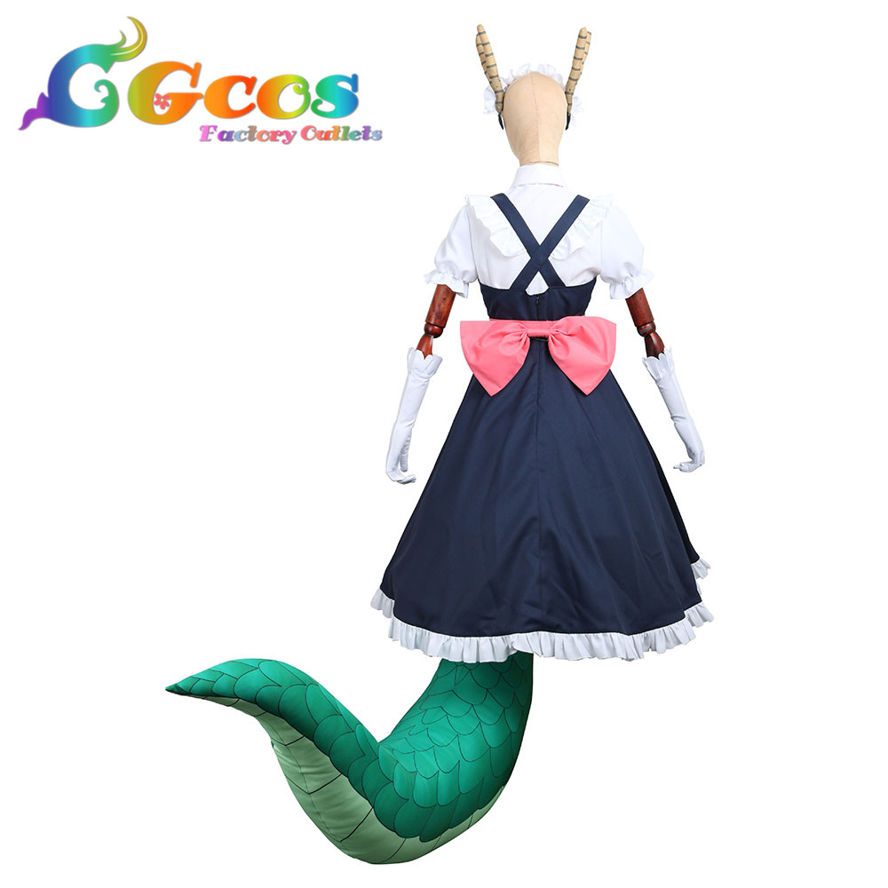 Free Shipping Cosplay Costume Miss Kobayashi/'s Dragon Maid Tohru Dress with tail