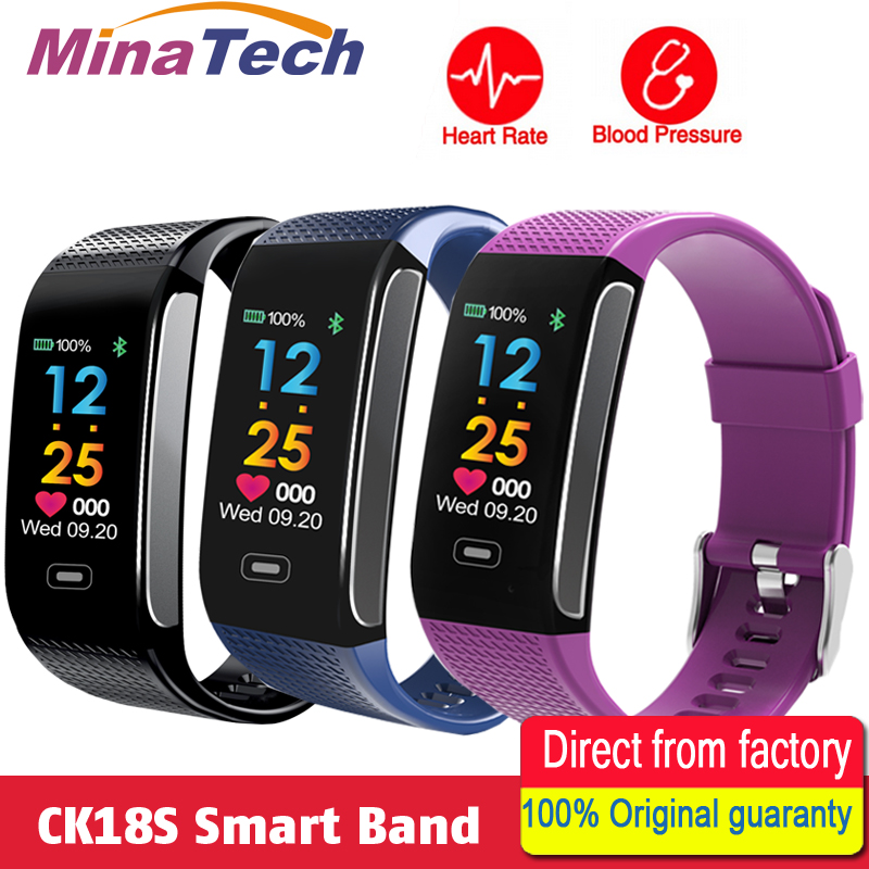 CK18S Smart Band Blood Pressure Heart Rate Wrist Watch Fitness Bracelet Tracker Pedometer Wristband Android& IOS PK CK11S