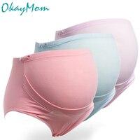 3ピース/ロットプラスサイズ綿産科パンティー妊婦の下着ハイウエストブリーフ妊娠インナー服xxl