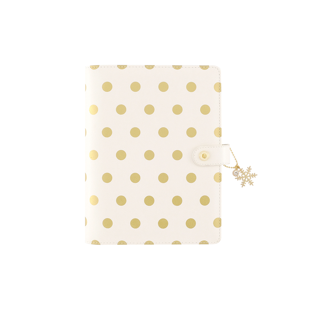 Image 5 - Lovedoki Foil Gold Polka Dot Notebooks & Journals A5 Agenda Planner Organizer Spiral Notebook Filofax Dokibook Daily Stationery-in Notebooks from Office & School Supplies