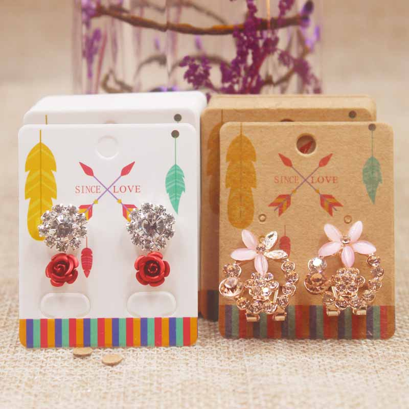 Zerong-new-arrival-50Pcs-Earrings-Package-Ear-Stud-Card5-4cm-Jewelry-Display-Hang-Tag-print-card (4)