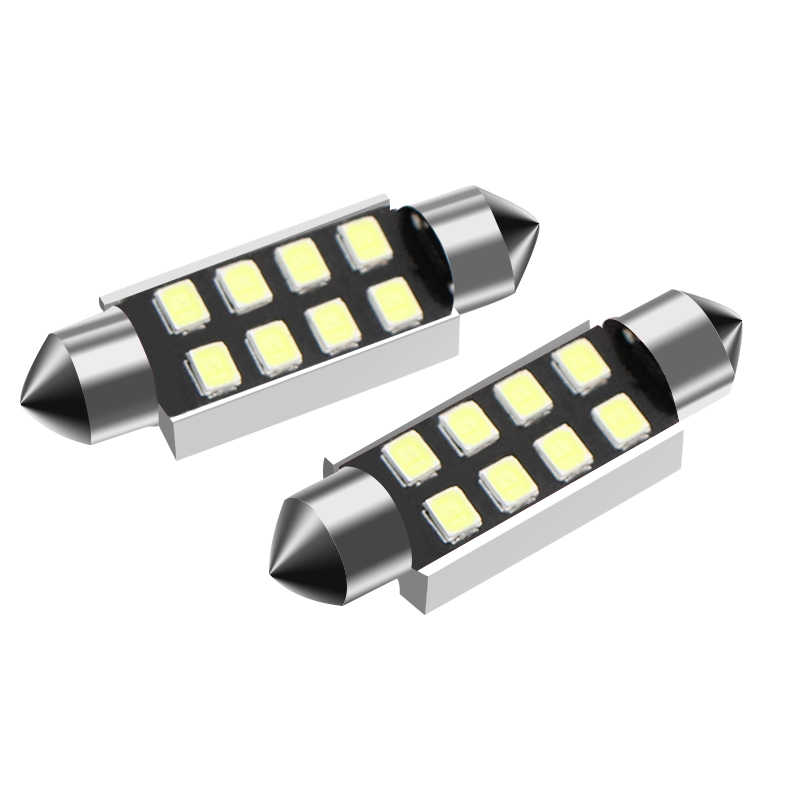 Festoon c5w c10w LED Reading Light 31/36/39/42MM Auto License Plate Light Bulbs Canbus Interior Dome Roof Lamp White Car Styling