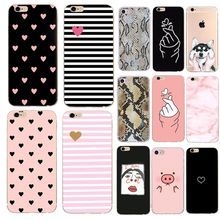 Caso bonito Do Cão de Animal Para iphone 6s 6 7 8 plus 5S 5se 5x10 Casal Do Amor Do Coração de Silicone Ultra Fino capa Capa Para iphone 7(China)