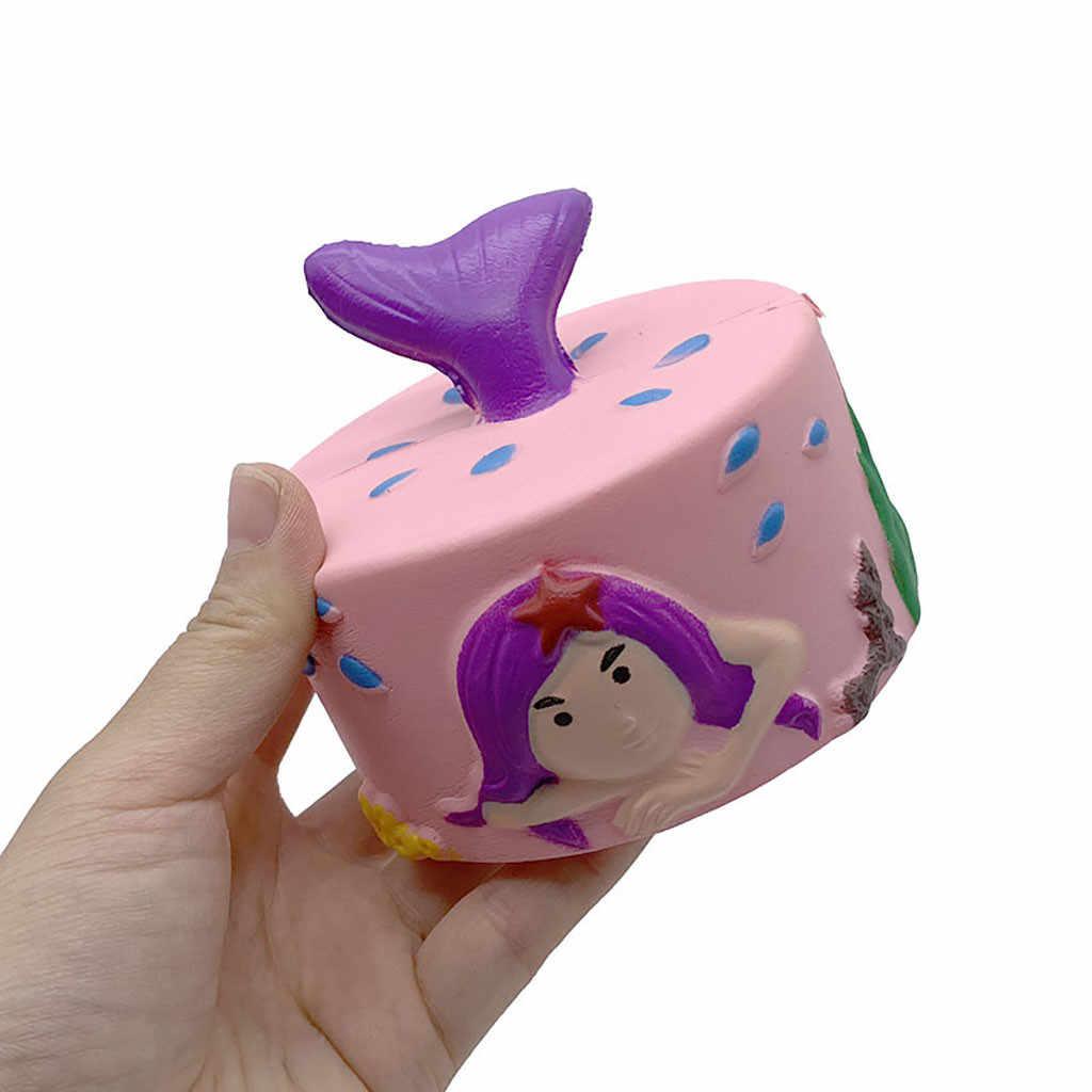 Прекрасный и милый изысканный Squishies Русалка торт ароматизированный медленно поднимающийся снятие стресса игрушка украшения 4,27