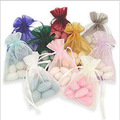"Organza  Drawstring Gift Bags 9cmx12cm ( 3 4/8"" x 4 6/8"" ) Party Candy Favor Holder Earrings stud Ring gift jewelry Pouch"