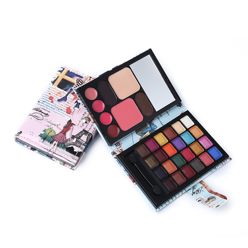 Professional Makeup Set Multi-function Matte Shimmer Eyeshadow Palette + Blusher + Lipgloss + Eyebrow Cake 1
