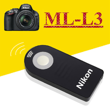 ML-L3 MLL3 IR Wireless Shutter Release Remote Control for Nikon D7000 D5100 D5000 D3000 D90 D70 D60 D40 D40x Digital SLR Cameras