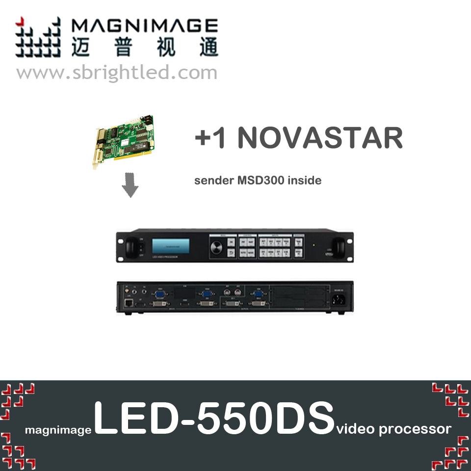 Freeship LED-550DS + 1 NOVA novstar MSD300 MAGNIMAGE processador de vídeo SDI apoio led550ds linsn TS802 colorlight it7 S2 dbstar